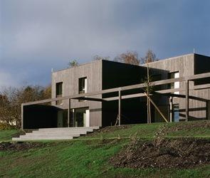 Casa Madera Negra Satinada Triendl Und Fessler Architekten