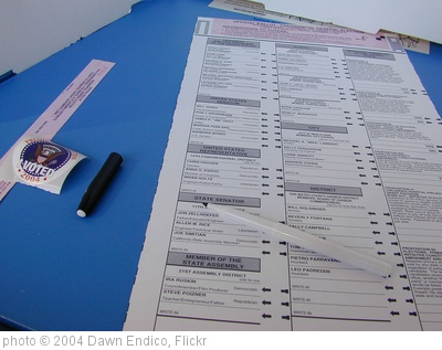 'I Voted 2004' photo (c) 2004, Dawn Endico - license: http://creativecommons.org/licenses/by/2.0/