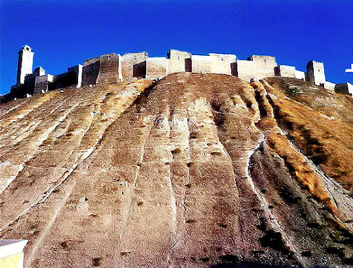 Ramparts of the Aleppo Citadel.