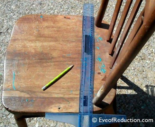 How to cut a chair