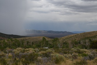 storm toward the east from Angel lake Road from Wells, Nevada south toward the Ruby Mountains