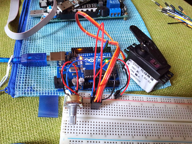 Arduino Servo Motor Control Rotation With Variable