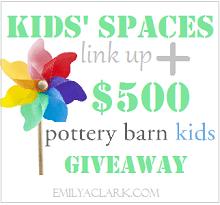 Kids' Spaces link up party on www.emilyaclark.com