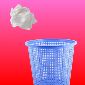 A Paper Ball Throw Into Bin