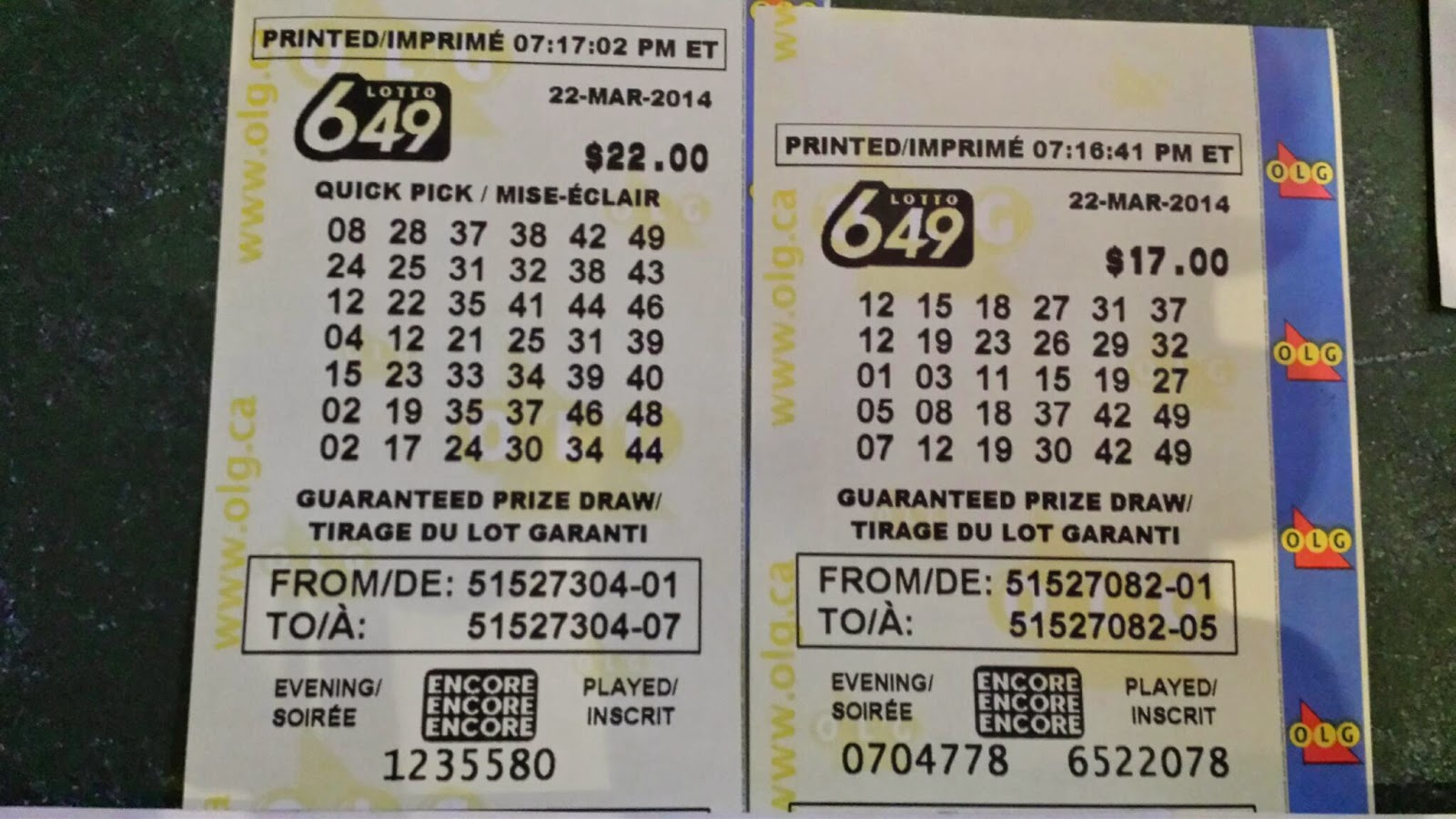 Shannon S Group Lottery Lotto 6 49
