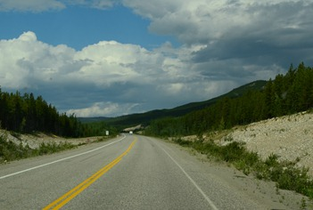 I can't believe how good this road surface is through the Yukon