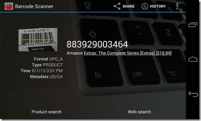 تطبيق مسح الباركود للأندرويد Barcode Scanner - سكرين شوت 3