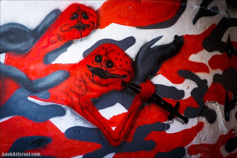 Пугающее граффити Тель Авива