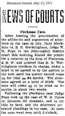 AFleckman-1911-05-12Paper-Beaumont Journal