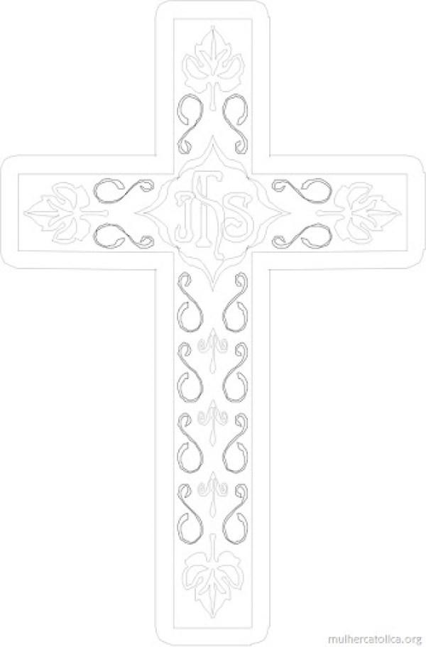 Exaltação da Santa Cruz - Figura para colorir