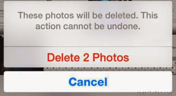 permanently delete photos ios