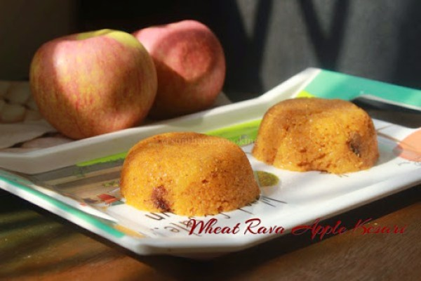 Wheat Rava Apple Kesari2