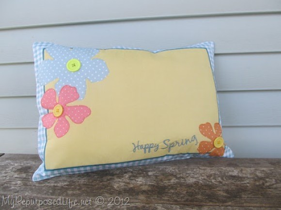 repurpose placemat pillow