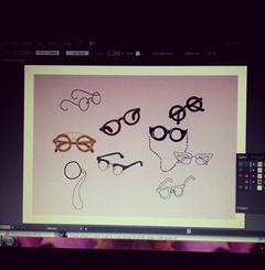 Using illustrator for the first time in months. Completely forgotten how to do the most simple of things. #illustrator #illustration #glasses