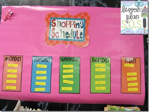classroom library shopping schedule