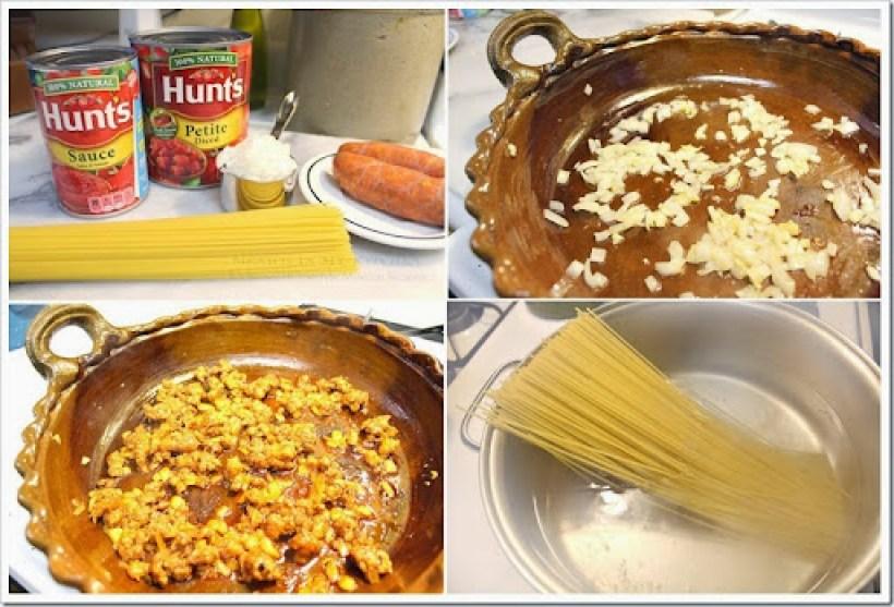 Pasta with Chorizo - espagueti13