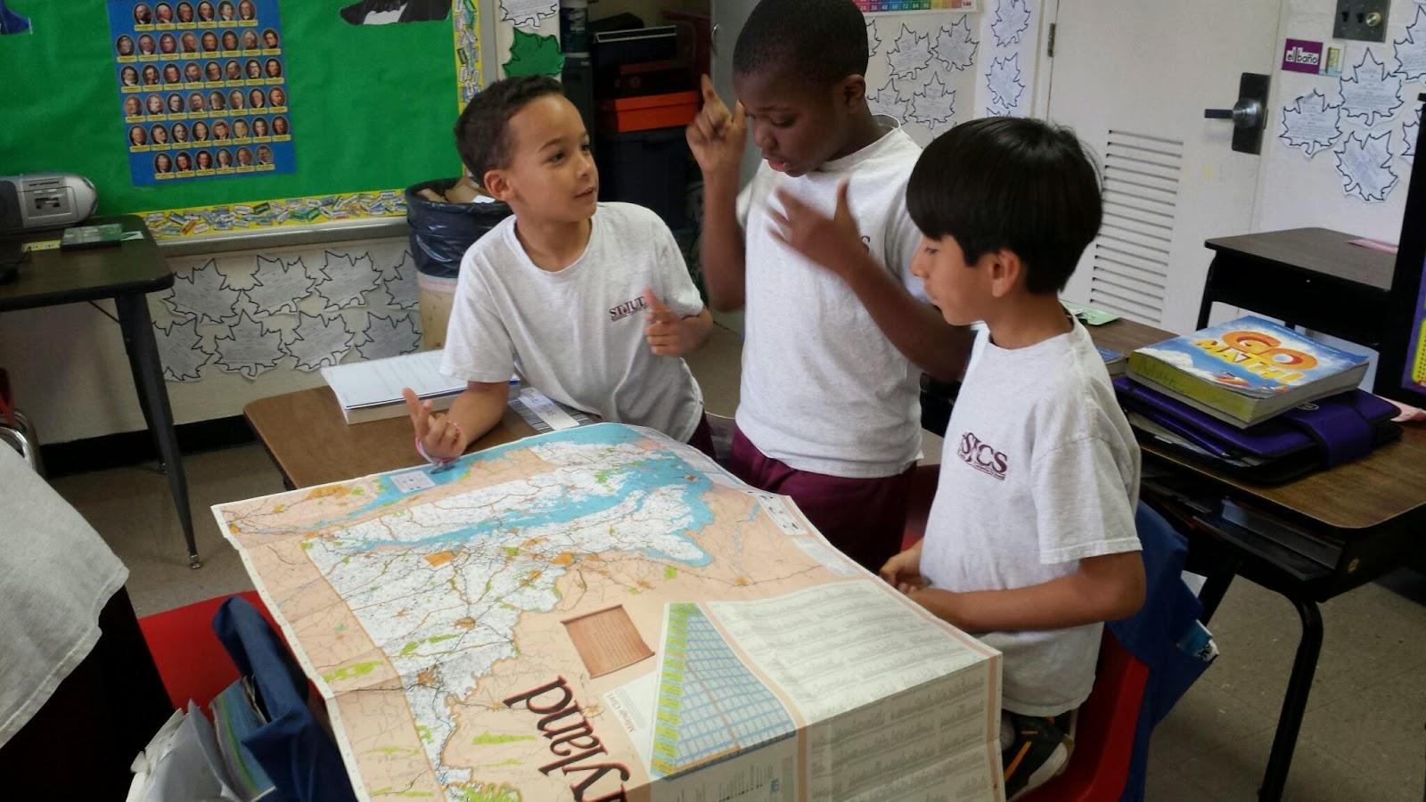Mrs Balog S Fourth Grade Class Maryland Map Activity