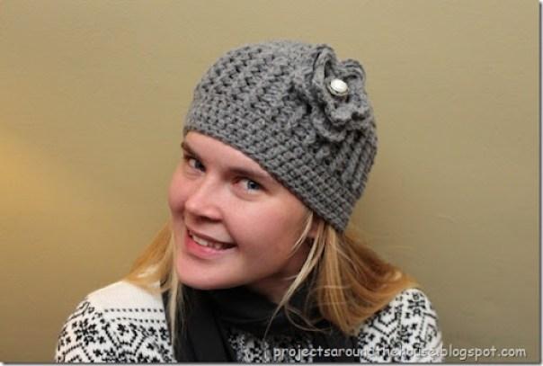 crochet ribbed beanie free crochet pattern with flower