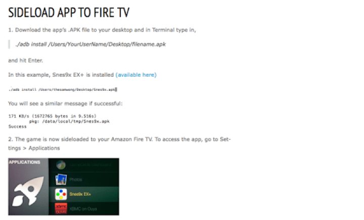 Side Load PPTV on Amazon Fire TV – miniLiew