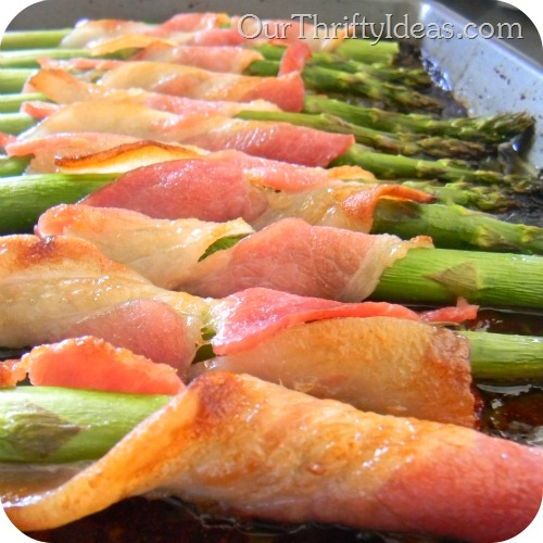 Bacon Wrapped Asparagus - baked