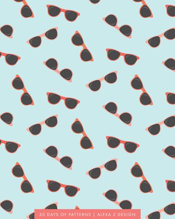 sunglasses - Alexa Z Design pattern