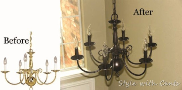 Style With Cents Re Using An Old Discarded Chandelier