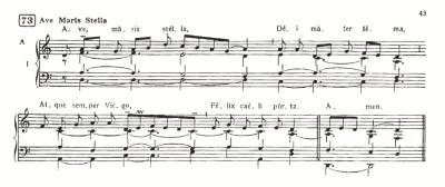 Ave Maris Stella - Gregoriano (partitura harmonizada)