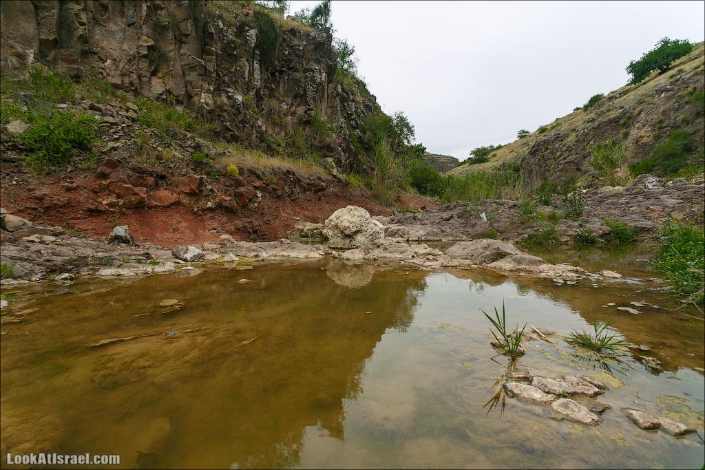 LookAtIsrael.com: Фото-блог о путешествиях по Израилю. Тель Авив, Иерусалим, Хайфа Каньон Базелет это самая южная точка, до которой спустилась лава с северных гор, и потому берега Тавора состоят из базальта, который ничто иное как следы и продукт вулканической деятельности. И этот факт вполне может запутать - ведь в Израиле основная часть базальтовых пород находится на Голанах