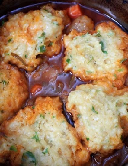 Winter Crock Pot Recipe - Crock Pot Beef Stew with Herb Dumplings by Best Crockpot Recipes