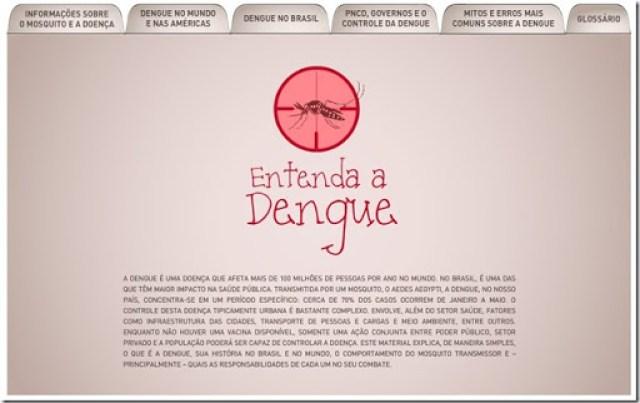 Site sobre a dengue