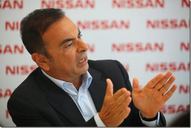 CEO global da companhia, Carlos Ghosn, na Fábrica da Nissan do Brasil em Resende, RJ
