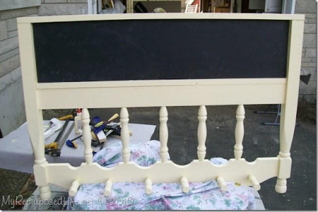 repurposed headboard