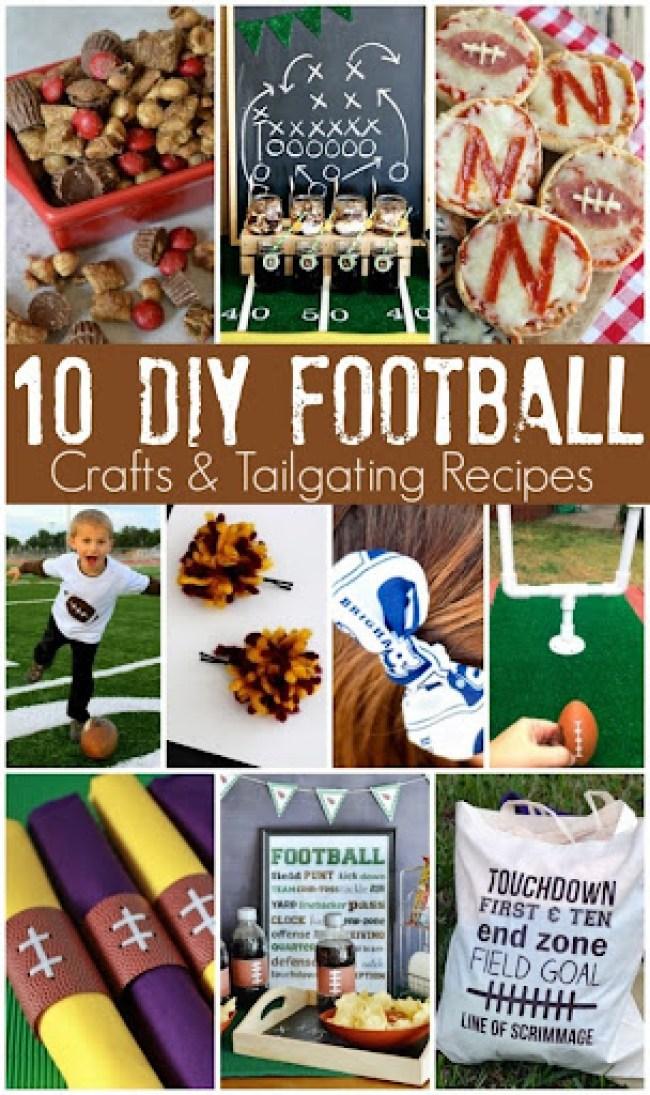 10 DIY Football Crafts and Tailgating Recipes