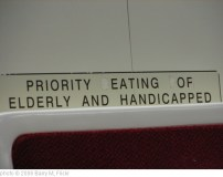 'PRIORITY EATING OF ELDERLY AND HANDICAPPED' photo (c) 2006, Barry M - license: http://creativecommons.org/licenses/by-sa/2.0/