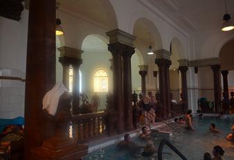 inside pools  at the Szechenyi Baths