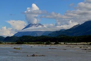 the glacial matanuska River