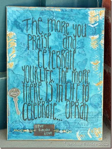oprah quote canvas