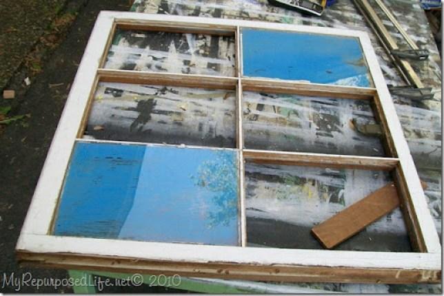broken window repurposed