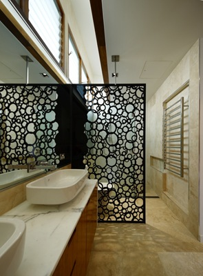 diseño baño moderno piedra marmol