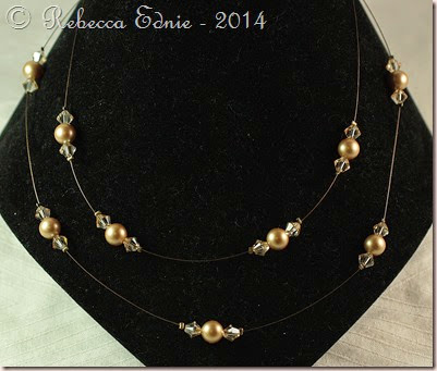 pearl n crystal illusion necklace