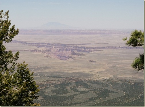 Looking East at Navajo Mountain, Marble canyon & House Rock Valley from Marble View Kaibab National Forest Arizona