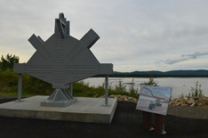 piece of the old bridge crossing the Tanana