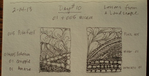 Day  10 sketches pen tip sizes