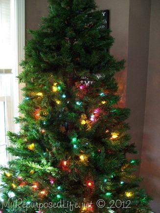 DIY Corner Christmas tree - My Repurposed Life®