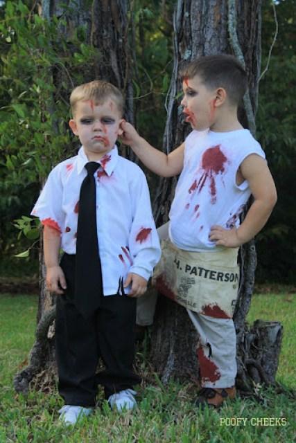 DIY Kids Halloween Zombie Costumes by Poofy Cheeks