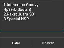 cara daftar paket internet SimPati Groovy