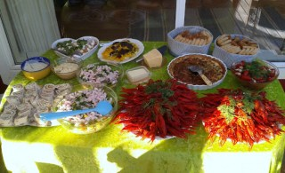 Kräftskiva buffet 2012.