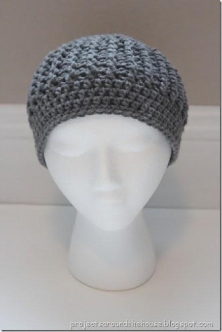 crochet ribbed beanie free crochet pattern