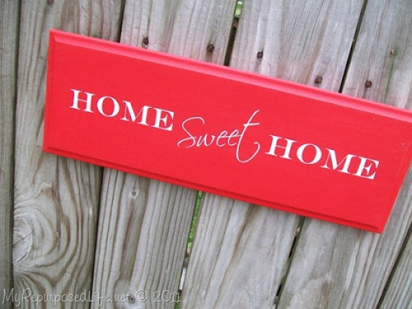 Home Sweet Home sign for craft show