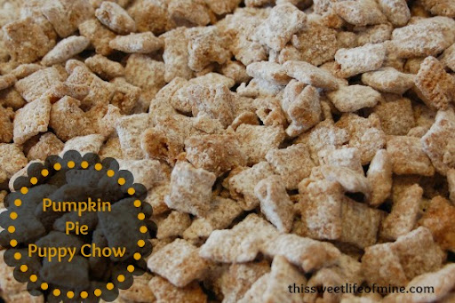 Pumpkin Pie Puppy Chow   This Sweet Life